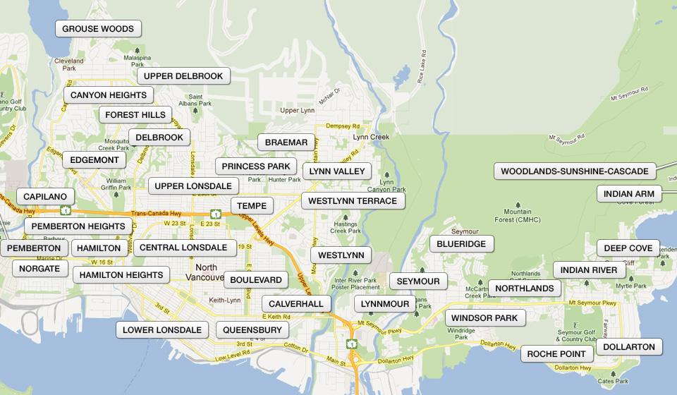 North Vancouver Map